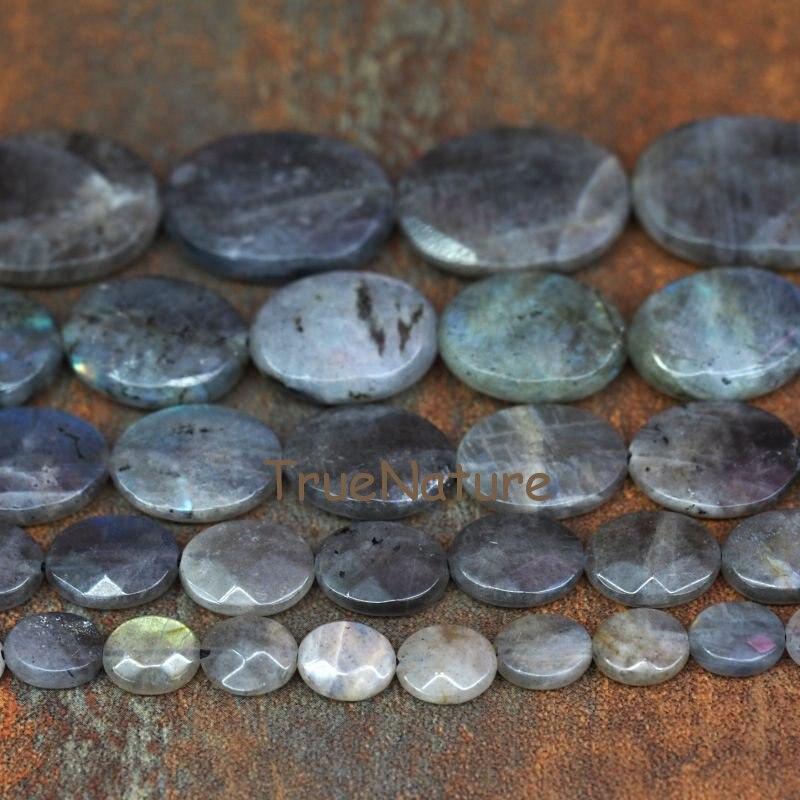 Naturel Labradorites Petite Pépite Perles À Facettes en Gros Ovale Labradorites Tranche Perles Pour La Fabrication De Bijoux BE6363