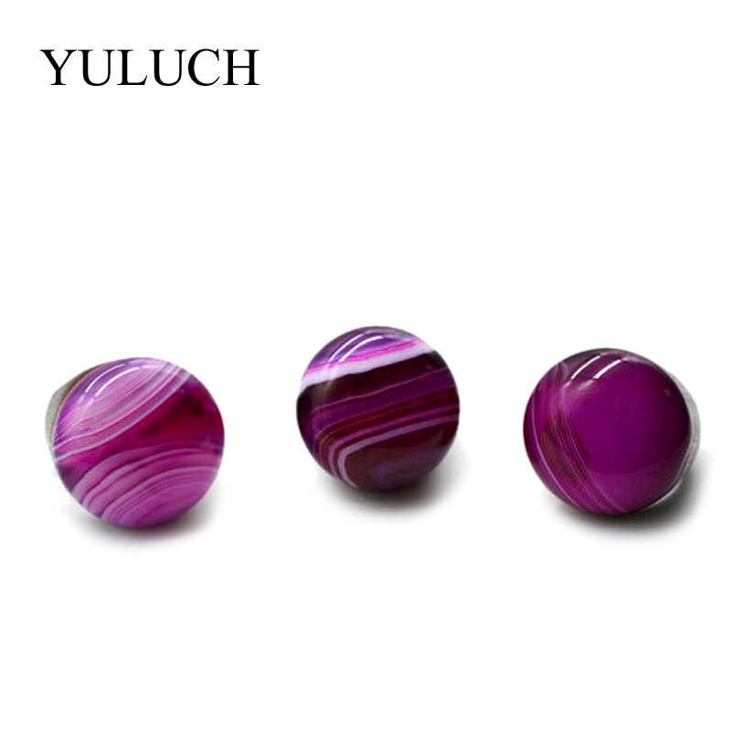 YULUCH ออกแบบไม้แหวนผู้หญิงผู้ชายใหม่เครื่องประดับน้ำ Wave Nartural Creative อัญมณีหินแหวนเรียบแหวน
