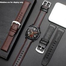 Correa de reloj PEIYI de 22mm de silicona + correa de cuero 2 en 1, repuesto de pulsera de moda para hombre para Huawei watch Pro/GT de liberación rápida