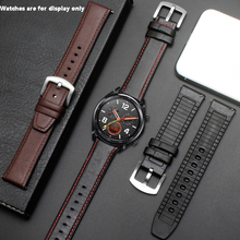 PEIYI Watchband 22mm Silicone + Leather 2in 1 Strap Fashion Mens Replacement Wristband For Huawei watch Pro/GT Quick release