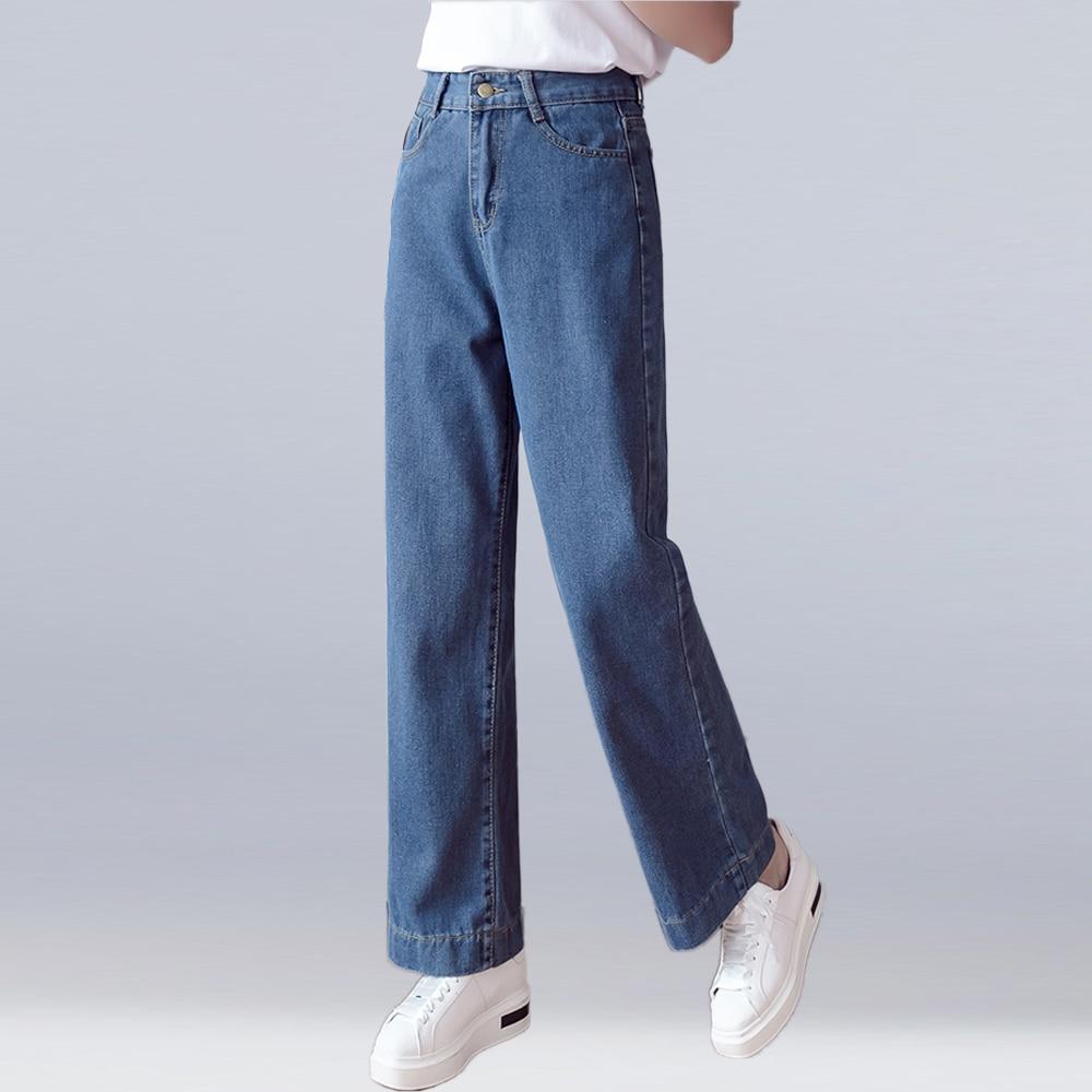new 2019 plus size women   jeans   loose wide leg denim pants high waist   jeans   comfortable elegant casual   jeans