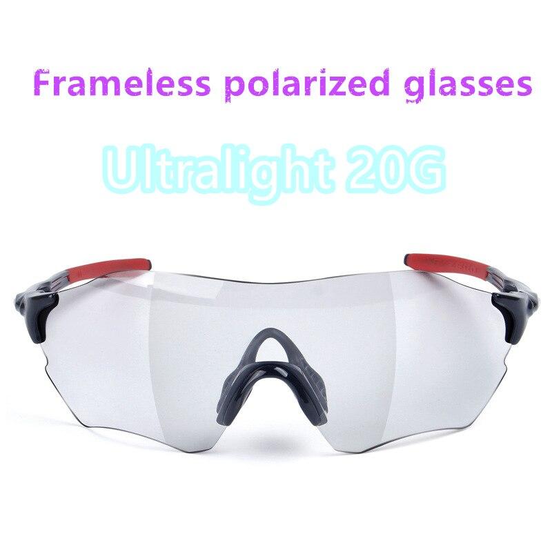 2018 HOT route extérieure équitation pas cher lunettes de vélo créatif sans bord ultraléger 20G vtt coupe-vent polarisant lunettes polarisées
