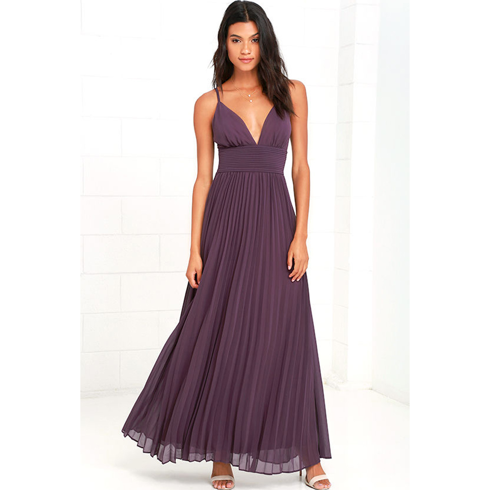 2018 summer casual big size elegant sleeveless maxi party