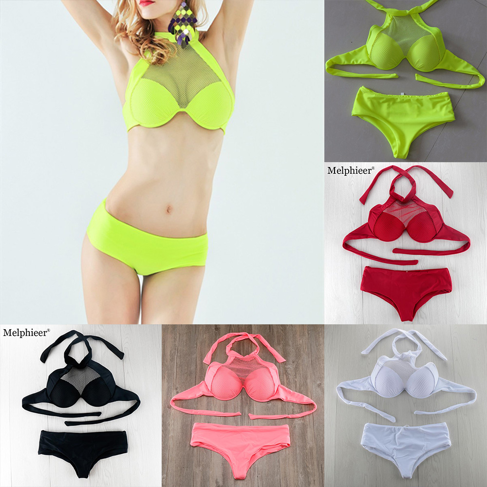 2017 Push Up Women Bikini Set Swimwear White Bathing Suit Lace Bra Plus Size High Waist Swimsuit Biquini Maillot De Bain E577 hot sale plus size bikini 2017 new sexy swimwear women swimsuit large size bikini set maillot de bain push up bra swimsuit
