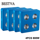 4PCS Full Spectrum COB LED Grow Light for Indoor Plant Vegetative Flowering, 800W plant led grow light COB for hydroponics