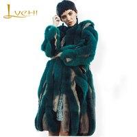 LVCHI 2019 Thick warm women Fur coat mink winter real fur mink&fox Women's fur coats O Neck full pelt Fur coats sable