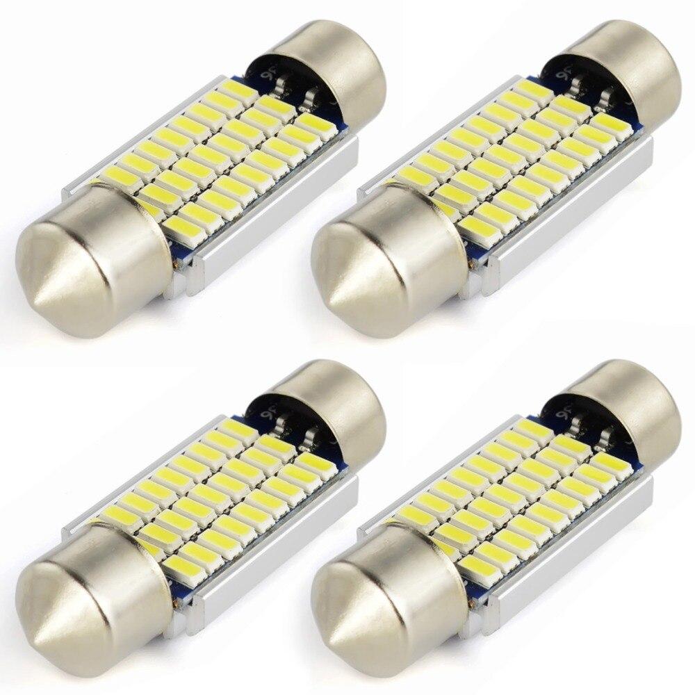 Safego 4pcs C5W <font><b>LED</b></font> 36mm 39mm <font><b>42mm</b></font> Festoon <font><b>CANBUS</b></font> 3014 NO ERROR Car <font><b>LED</b></font> Dome Interior Lights Lamp Auto Map Roof Reading Bulbs