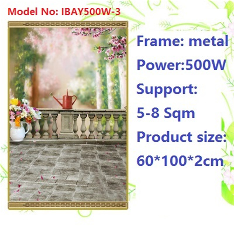 N500W-3,2 PCS/lot,Free shipping,wall mount crystal,warm wall with picture,Infrared heater,carbon crystal heater,with thermostat цена и фото