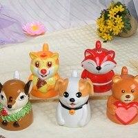 Handle mug creative cute cartoon milk ceramic mugs personality cereal wheat mug