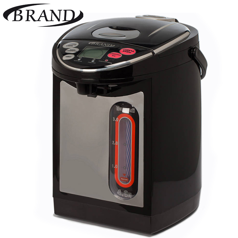 BRAND4404B Electric Air Pot digital. Thermopot, 4L, temperature control, LCD display, timer, children lock, Thermo pot тушь для ресниц bourjois volume glamour effet push up waterproof цвет 71 black variant hex name 000000 вес 20 00