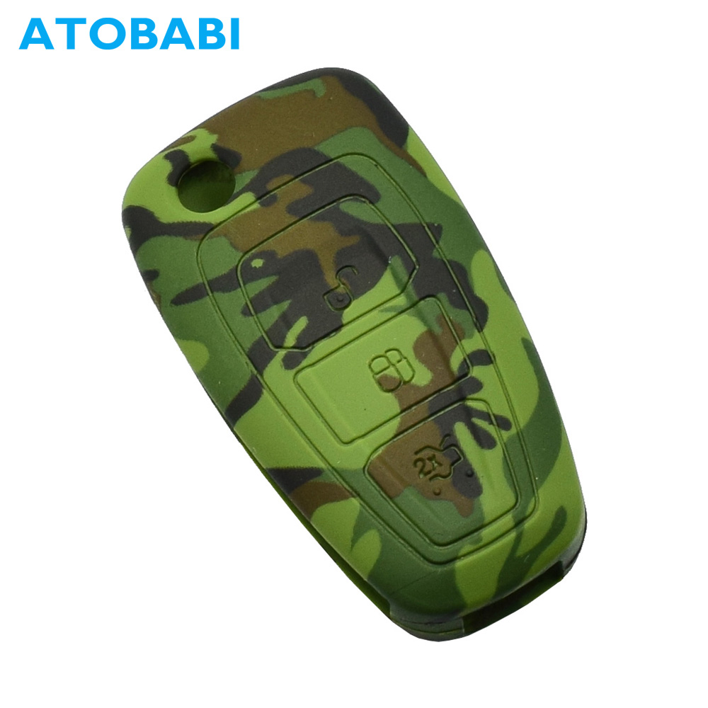 Silicone Car Key Cover Case For Ford Ranger Mondeo S-Max Focus Galaxy Remote Fob