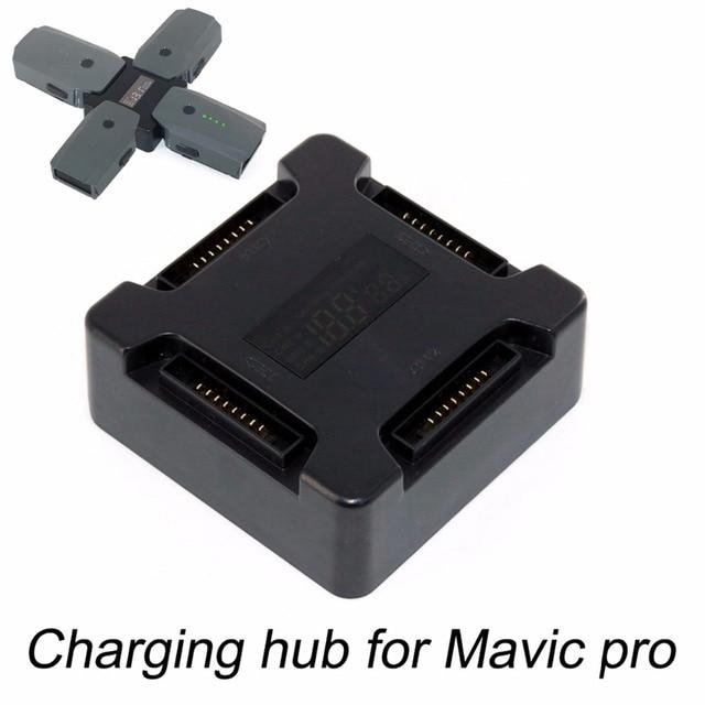 4 trong 1 Pin Sạc Hub dành cho DJI Mavic Pro Bạch Kim Máy Bay Không Người Lái Di Động Thông Minh Nhiều Pin Sạc Thông Minh Hub màn hình hiển thị