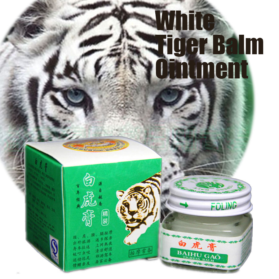 5pcs Vietnam White Tiger Balm For Headache Toothache Patch Cream Body Neck Massager Meridians Stress Pain Relief Arthritis Cream-in Patches from Beauty & Health