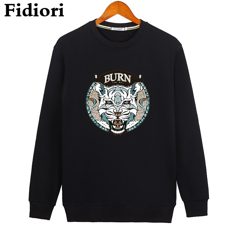 Fidiori Official Store Fidiori new men loose casual cotton hoodies sweatshirt fashion trend print thicken fleece pullover mens sweatshirt.dropshipping