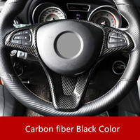 For Mercedes Benz CLA(2015 18) A class(2016 18) B(2015 18) ABS Plastic Carbon Fiber Style Steering Wheel Button Frame Cover Trim