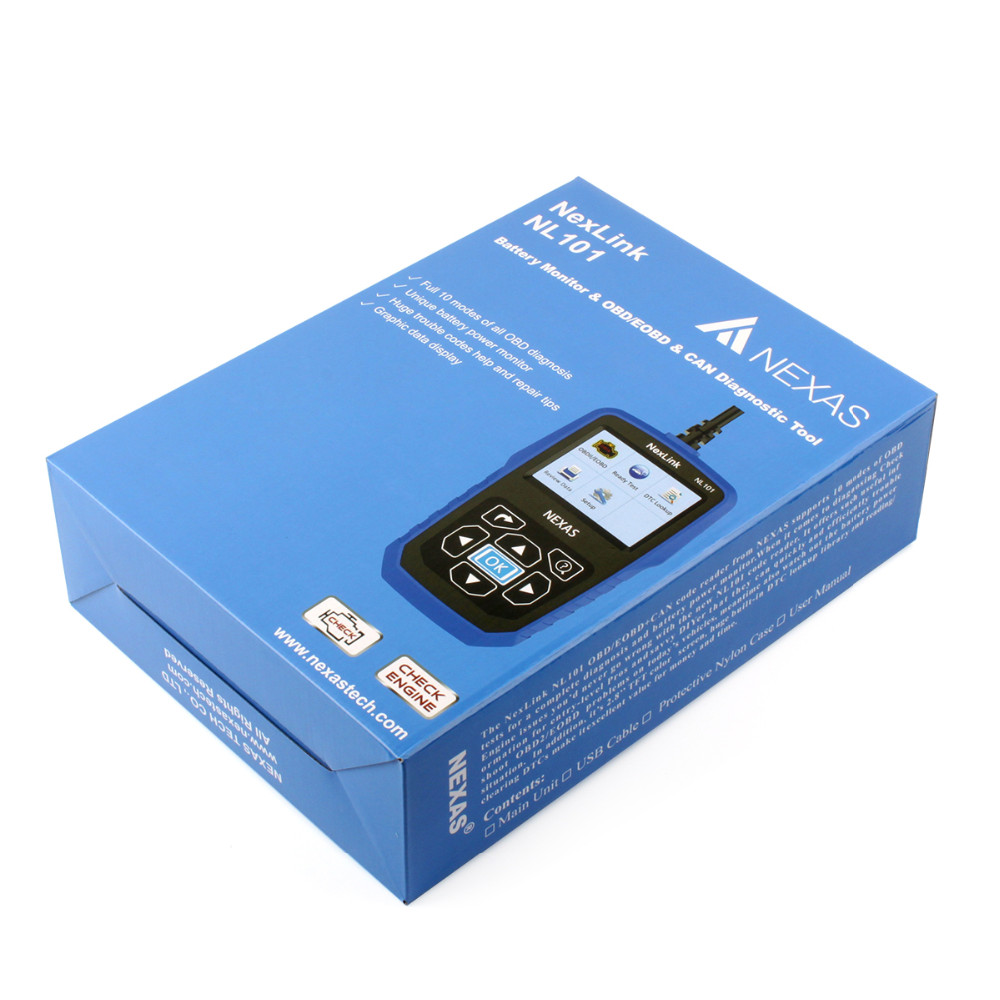 OBD EOBD CAN Diagnostic Tool Automotive Scanner NL101-18