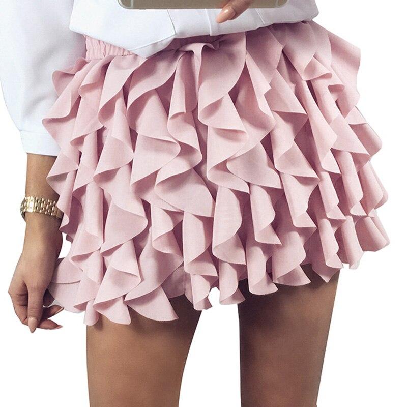 Ruffle pleated mini skirt Casual sexy skirt autumn winter spring fashion High waist fashion lolita short skirt party club
