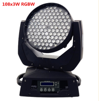 108 x DMX512 3 W RGBW Zoom Levou Luz Em Movimento Da Cabeça Levou Efeito Feixe de Luz lavagem levou Movendo Lavagem de Cabeça luz em movimento da cabeça