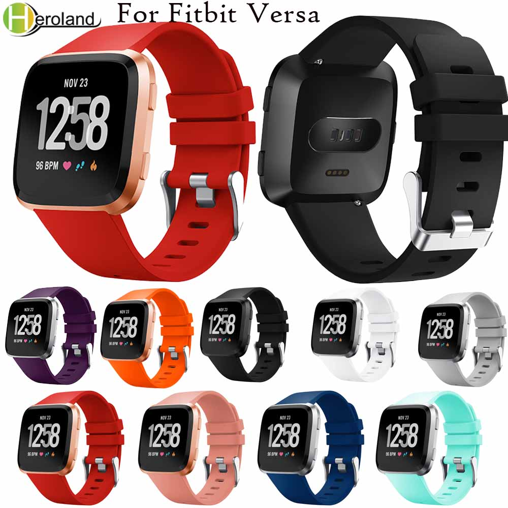 New Colorful Sport Watch Strap For Fitbit Versa Wristband Wrist Strap Replacement Smart Watch Band Strap Soft Silicone Watchband