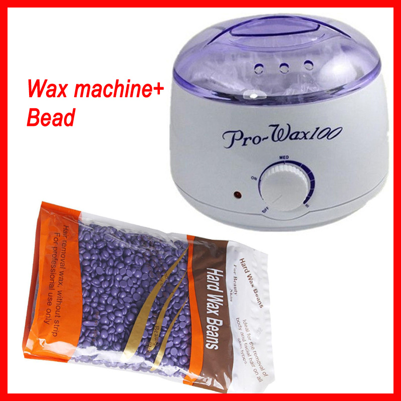 цены New Depilatory Wax Heater Body Waxing Machine Hair Removal Wax Warmer With Retail Package+3 bags 300g Hard wax beans