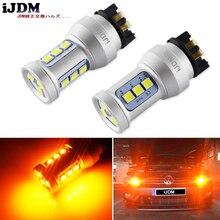 iJDM PW24W LED Amber Yellow Error Free PWY24W LED Bulbs For Audi A3 A4 A5 Q3 VW MK7 Golf CC Ford Fusion Front Turn Signal Lights