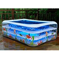 Crianças piscina inflável de alta qualidade uso doméstico das crianças piscina para crianças grande tamanho inflável piscina quadrada para o bebê