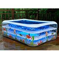 Piscina inflable para niños de alta calidad para uso en el hogar, piscina de remo de gran tamaño, piscina cuadrada inflable para bebé