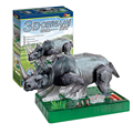 Amazing Animal Toys 3D Electric Rhino Creative Popular Science Puzzle Assembled Toys School Manual Class Equipment No clue