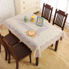 European-style embroidered lace tablecloth, fabric table cloth coffee
