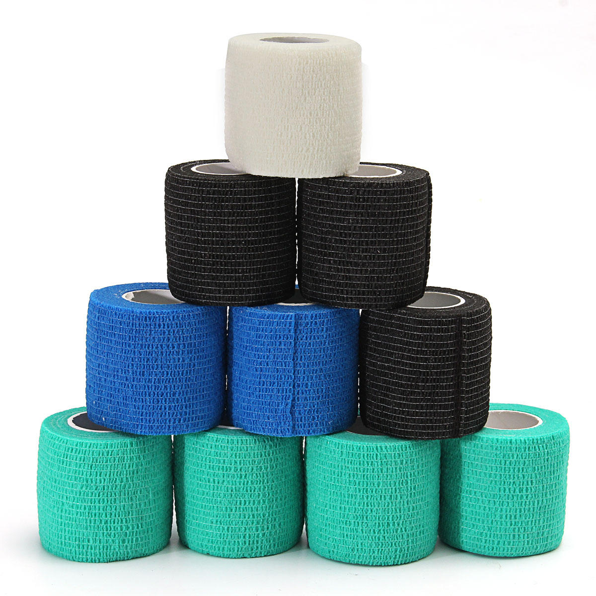Emergency Kits 10pcs Security Protection Waterproof Self-adhesive Cshesive Bandages Elastic Wrap First Aid Sports Body Gauze Vet Medical Tape
