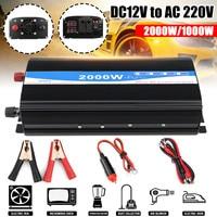 12V 220V 2000W Pure Sine Wave Inverter LED Power Inverter DC12V to AC 220V Digital Display