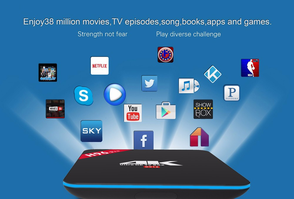 H96 pro-S912 android 6.0 marshmallow tv box 3g_16g double WIF HDR