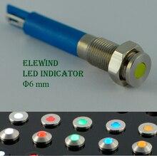 6 мм металл светодиодный индикатор (Новый) (PM06F-D/Y/12 v/s)