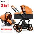 Cochecito de bebé Belecoo 3 en 1 cortical bidireccional de alta visión amortiguador de bebé strollers2 en 1