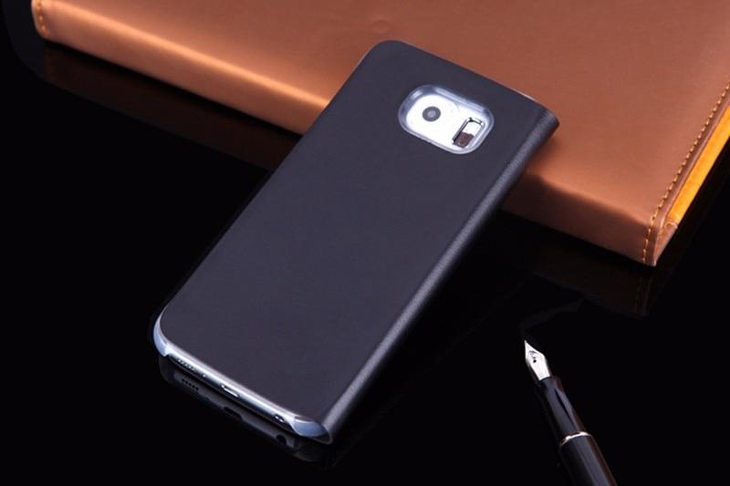Samsung Galaxy S6 Edge G925 үшін былғарыдан - Мобильді телефондарға арналған аксессуарлар мен бөлшектер - фото 2