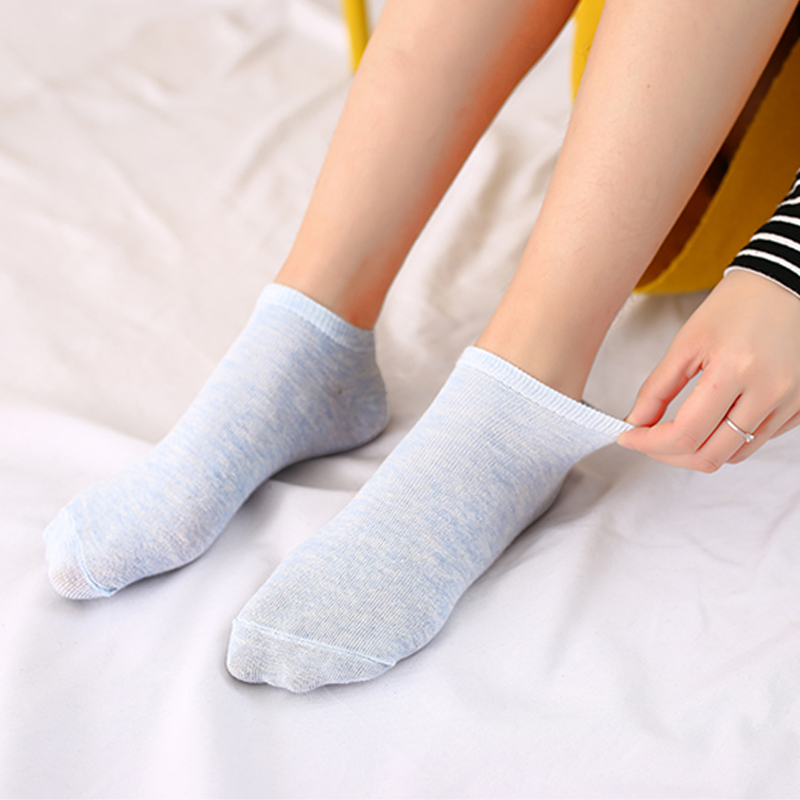 10 Pairs Candy Color Cotton Women boat Socks Woman Funny Low Cut Ankle Sock Dropship school girl sox white grey black purple