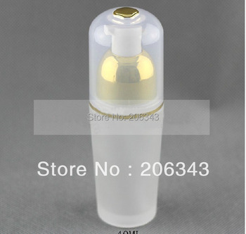 40ml frosted glass  with  gold press pump bottle ,lotion bottle , Cosmetic Packaging,glass bottle