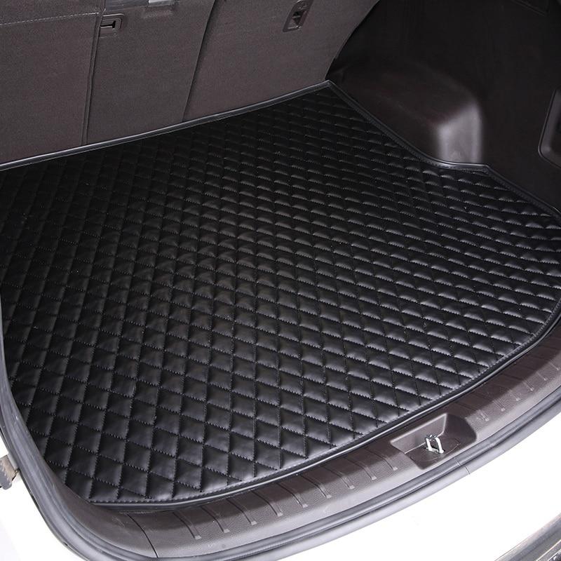 Custom Leather car trunk mat For Volkswagen all model VW jetta BORA Sagitar Touareg Tiguan Variant