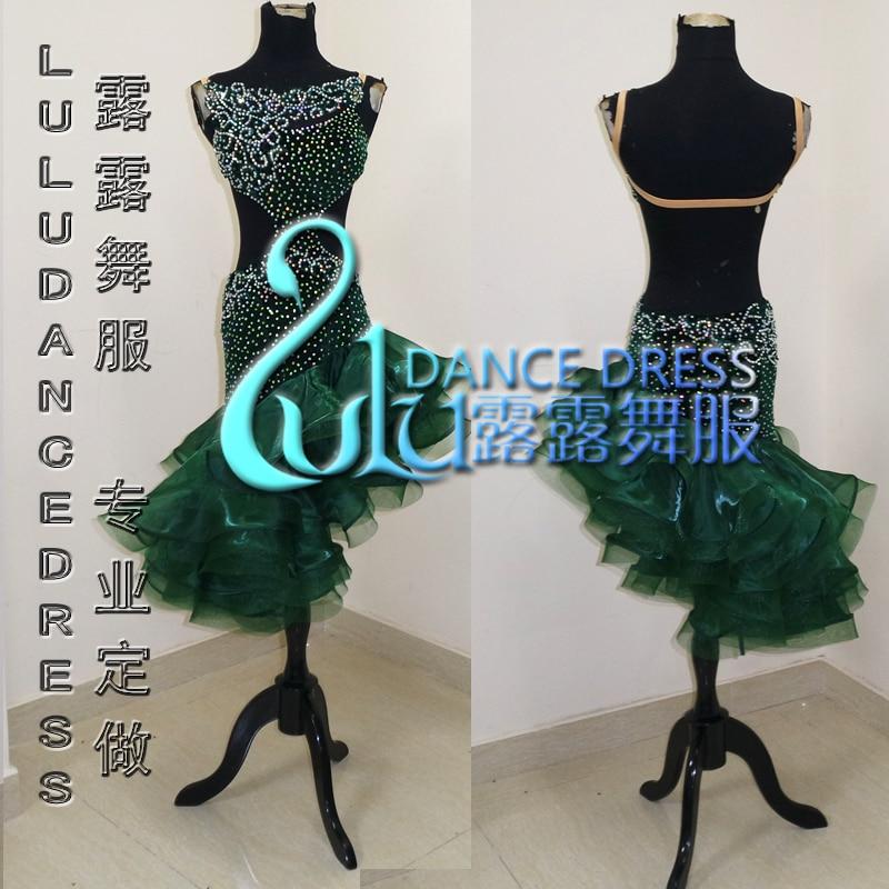 Vestito latino l'ultimo stile Sexy Latin dance abbigliamento Latin dance dress