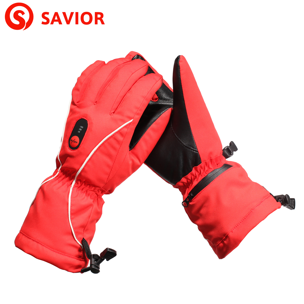 Savior s 08r winter electric heating gloves skiing fishing for Winter fishing gloves