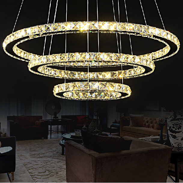 Crystal Circle pendant lamp for dining room Modern crystal pendant light luminaire dining room hanging lamp Diamond Ring light u2 u2 the joshua tree 2 lp 30 anniversary