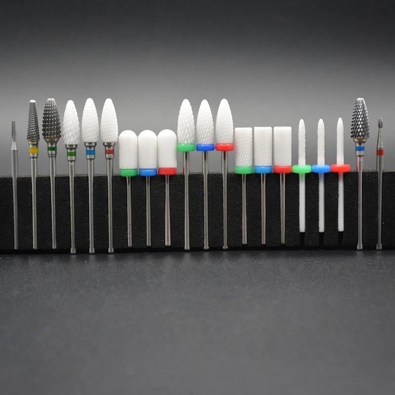 MAOHANG 20 Type Ceramic Nail Drill Bits Manicure Machine