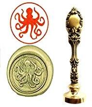 Custom Logo Luxury Octopus Vintage Wax Seal Stamps Kit Wedding Invitation Sealing Stamps Gift