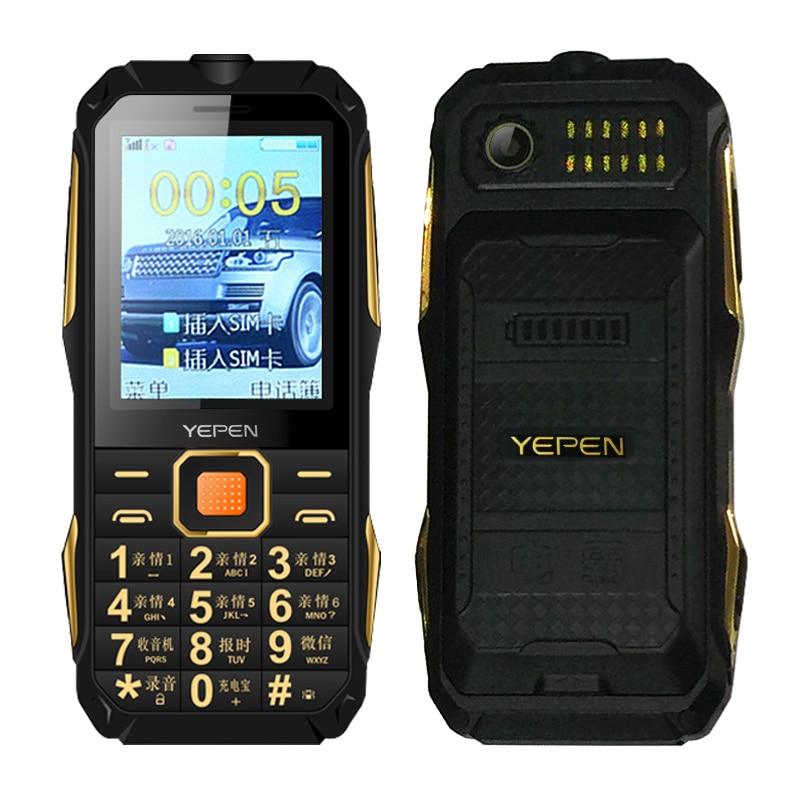 Shockproof rugged flashlight FM radio long standby Blacklist dual SIM card power bank old man mobile