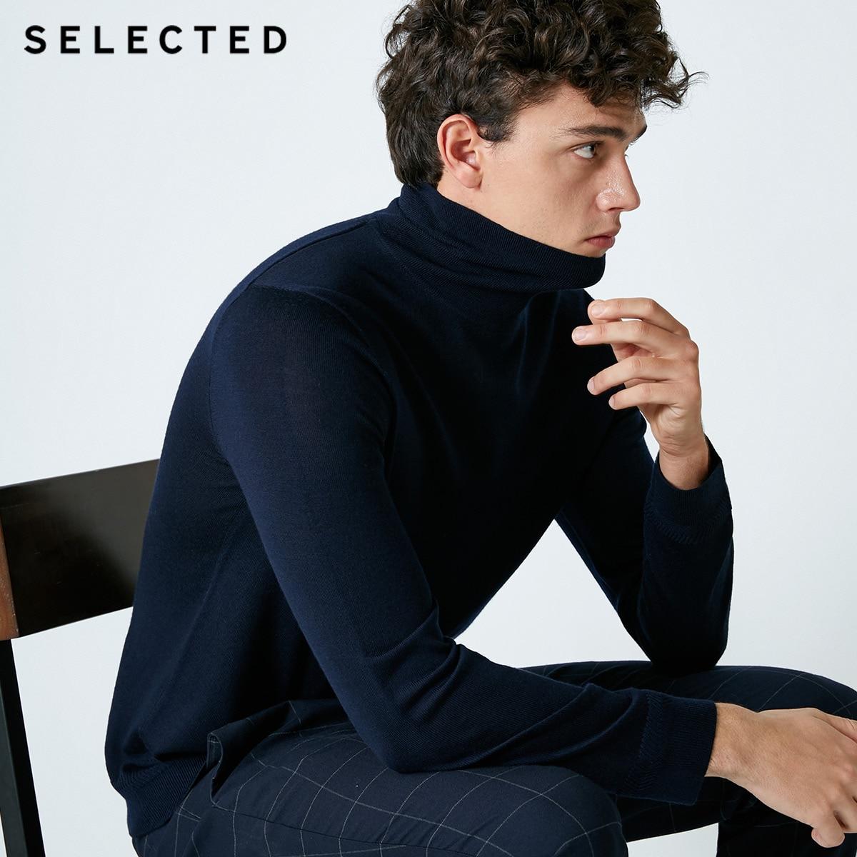 Selected blackrock의 새로운 남성 레저 이탈리아어 100% 울 스웨터 스웨터 s  418424502-에서풀오버부터 남성 의류 의  그룹 2