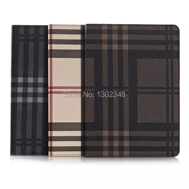 Fashion Stripe Grain Book Cover Card Holder Folio Stand PU Leather Magnet Smart Sleep Case For Apple iPad Air 2 6 9.7inch Tablet