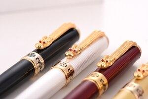 Image 5 - Jinhao1000 dolma kalem ejderha lüks mürekkep kalemler yüksek kalite galvanik Caneta Tinteiro Stylo tüy Metal kalem ucu ofis hediye
