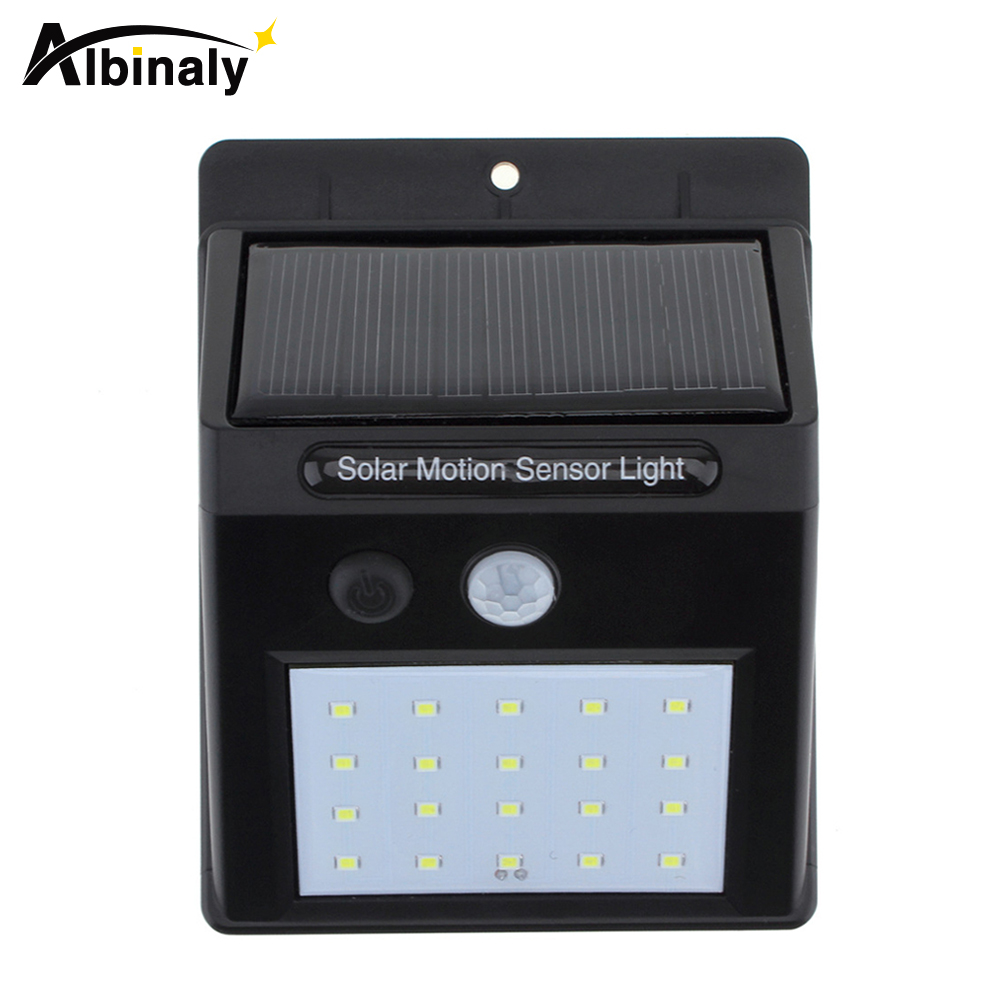 Albinaly LED Solar Light Solar Panel Power PIR Motion Sensor LED Garden Light Outdoor Pathway Sense Solar Lamp Wall Light waterproof 16 led solar light solar panels power pir motion sensor led garden light outdoor pathway sense solar lamp wall light