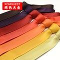 2016 мужчин чистый сплошной цвет саржа галстук мужские костюмы бизнес досуг галстуки gravatas 8 см свадьба жених подарочная коробка пакет