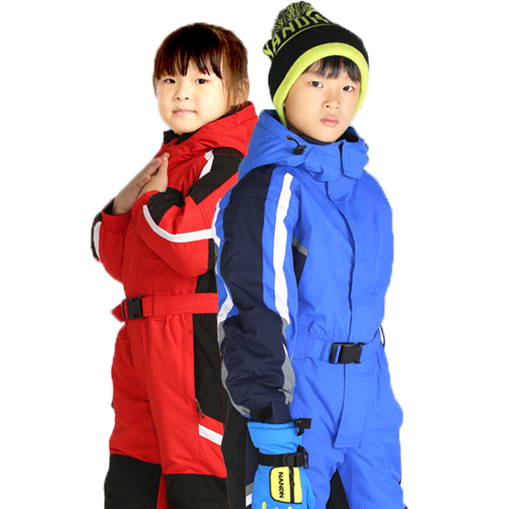 Kids' Snowboard Snowmobile One-Piece Ski Suit Snowsuit Boys Girls Thermal Waterproof Windproof Snow Jacket Children rotary 12553 denso spark plug w16epr u